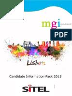 Infopack 2015 Sitel Lisbon