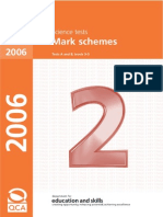 2006 Science Mark Scheme