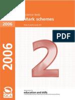 2006 Science Mark Scheme