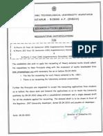 BPharm I & II_III Yr II Sem (NR) Nov 09 Exams RC Notificatio
