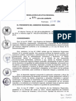 Resolucion Ejecutiva Regional Nº 575 - 2014-Gr-junin Pr