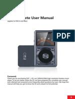 manual del reproductor fiio x3 2da generacion