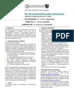 Especializacion Posgrado Administracion Financiera Uba