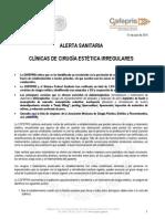Alerta Clinicascirugiaestetica 01julio2015