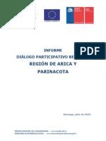 Informe Región de Arica y Parinacota
