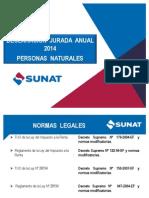 Declaración Jurada Anual 2014 Personas Naturales