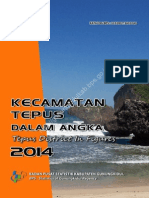 Kecamatan Tepus Dalam Angka 2014