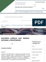 Artigo_Natureza Jurídica Dos Órgãos Notarial e Registrador