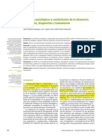 Síntomas Psicológicos y Conductuales de La Demencia Prevención Diagnóstico y Tratamiento