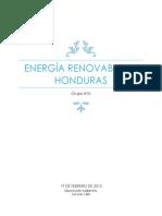 La Energia Renovable en Honduras