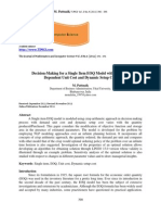Vol3 Iss4 390 - 395 Decision-Making for a Single Item E