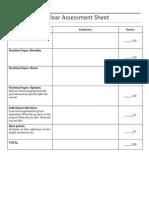 nuclear assessment sheet