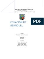 Ecuacion de Bernoulli
