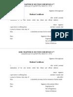 sample of medical certificate