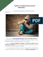 Justicia restaurativa y no punitiva para los jóvenes delincuentes