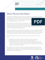 About Measures That Matter