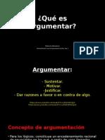 LÓGICA Y ARGUMENTACIÓN JURÍDICA - Qué es argumentar