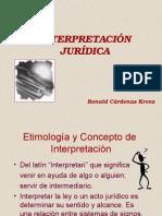 FILOSOFÍA DEL DERECHO - La InterpretaciónJurídica