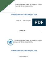 Gerenciamento na Construção Civil - Aula 1
