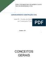 Gerenciamento na Construção Civil - Aula 3