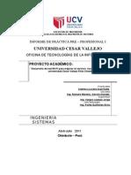 Avance de Prácticas pre Profesionales UCV