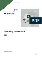 Manual Kl 2500 Led Mar 11 English