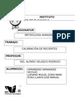 metrologia recipientes