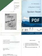 A Beginners Course in Spoken Nepali