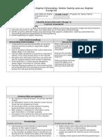 Collaborative Unit Digital Citizenship Lesson Plan