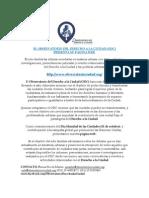 2015 - 10 - Presentación de La Página del Observatorio del Derecho a la Ciudad