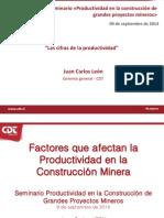 Las Cifras de La Productividad Juan Carlos Leon CDT