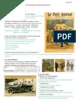 1914-1918 Tensions Internationales Reponses