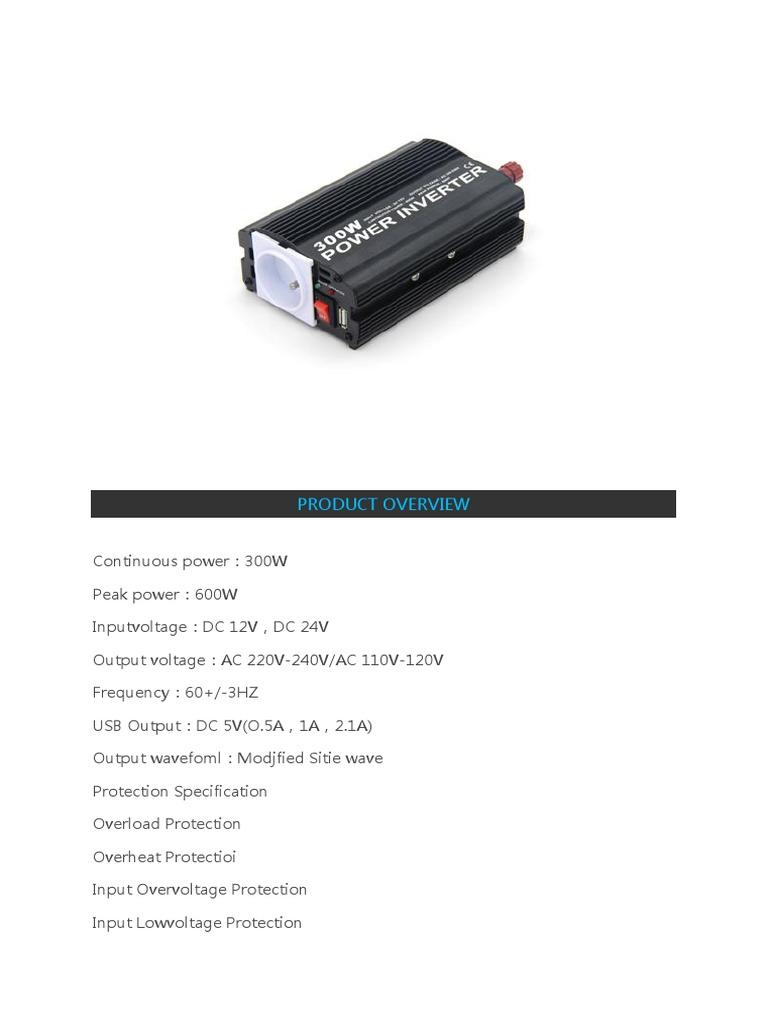 Spesifikasi Inverter Power Electronic Engineering 300watt Dc 24v To Ac 220v Circuit Diagram
