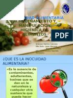 Educación almacenamiento y manipulación higienica de los alimentos