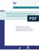 The Role of Interim Assessments