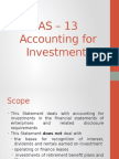 As 13 - Investment