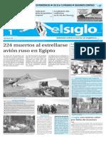 Edición Impresa El Siglo 01-11-2015