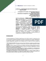 ORIGEN Y EVOLUCIÓN DE LA RESPONSABILIDAD POR PRODUCTOS DEFECTUOSOS