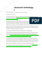 clark article of the week--impact of classroom technology questioned - google docs