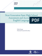 English Language Learners in Next Generation Assessment and Accountability