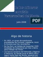 Ruta de ingreso de los cornish a México