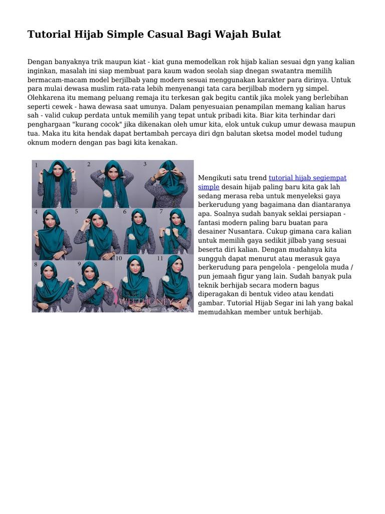 Tutorial Hijab Simple Casual Bagi Wajah Bulat