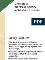Function of Ingredients