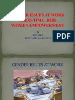 Gender Issues at Work, flexitime - jobs, women empowerment