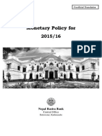 Monetary Policy for 2015-16