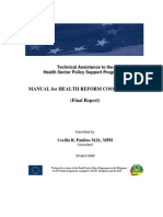 Development of the Manual of Local Reform Coordination
