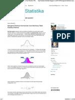 Analisis Statistika_ Mengenal Distribusi Normal Dan Cara Membaca Tabel Distribusi Normal