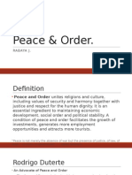 Peace & Order in The Philippines 2015