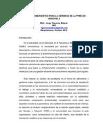 Enfoques Gerenciales en Venezuela en PDF