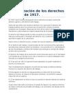 La Declaración de Los Derechos Sociales de 1917.